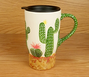 Color Me Mine Cactus Travel Mug