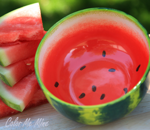 Color Me Mine Watermelon Bowl