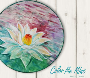 Color Me Mine Lotus Flower Plate