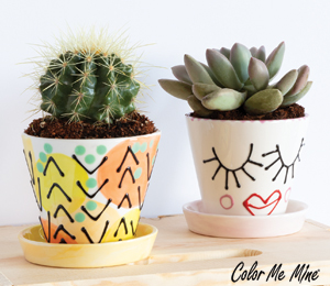 Color Me Mine Cute Planters
