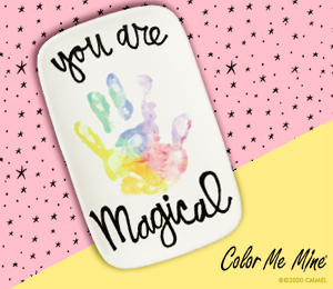 Color Me Mine Rainbow Hand-print
