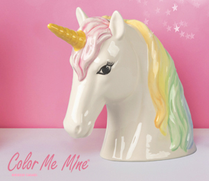 Color Me Mine Sparkle Unicorn Bank