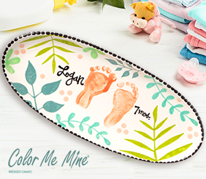 Color Me Mine Tropical Baby Tray