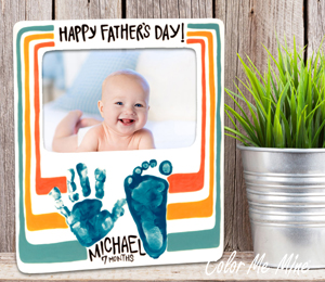 Color Me Mine Father's Day Frame