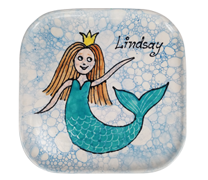 Color Me Mine Mermaid Plate
