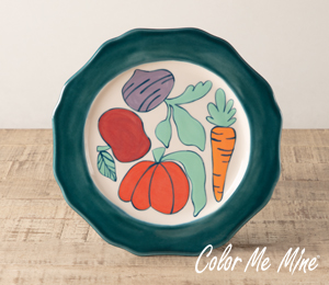Color Me Mine Produce Plate