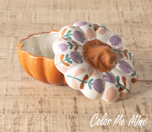 Color Me Mine Floral Pumpkin Box