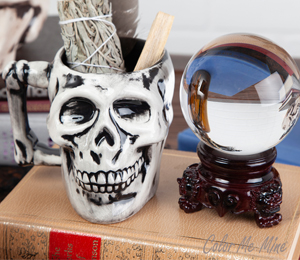 Color Me Mine Antiqued Skull Mug