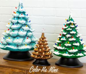 Color Me Mine Vintage Christmas Trees