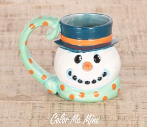 Color Me Mine Snowman Mug