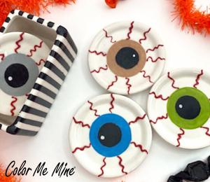 Color Me Mine Eyeball Coasters