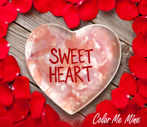 Color Me Mine Candy Heart Plate