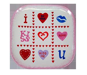 Color Me Mine Valentine's Tic Tac Toe