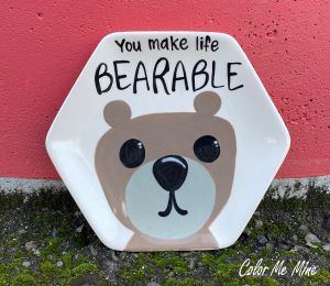 Color Me Mine Bearable Plate