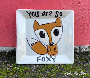 Color Me Mine Fox Plate