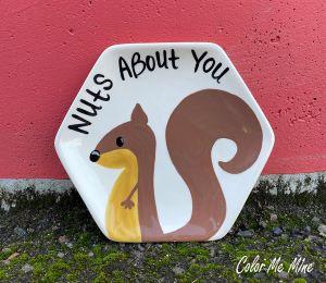 Color Me Mine Squirrel Plate