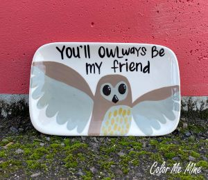 Color Me Mine Owl Plate