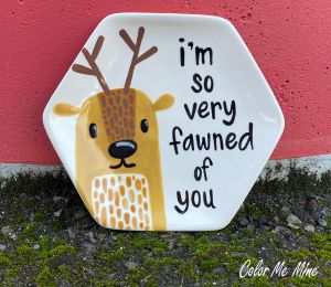 Color Me Mine Fawn Plate