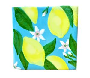 Color Me Mine Lemon Square Tile