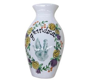 Color Me Mine Floral Handprint Vase