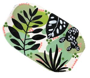 Color Me Mine Leafy Charcuterie Board
