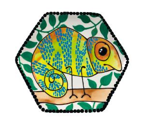 Color Me Mine Chameleon Plate